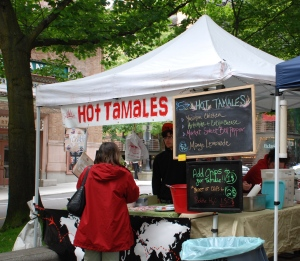 Tamale Stand at Portland Farmer\'s Market
