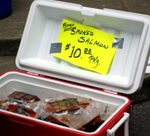 Salmon at the Portland Farmer\'s Market